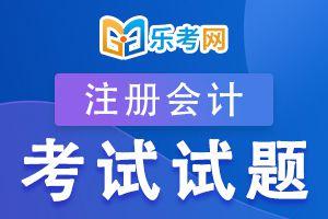 注册会计师考试《审计》练习题(五)